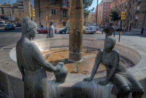 La fuente de Las Aguadoras, símbolo de Actora Consumo.
