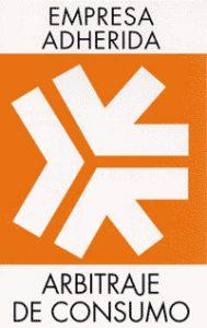 Símbolo del Sistema Arbitral de Consumo, que muestra que una empresa está adherida al Arbitraje de Consumo.
