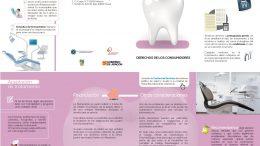 Folleto informativo con consejos sobre salud dental, realizado por el Gobierno de Aragón.
