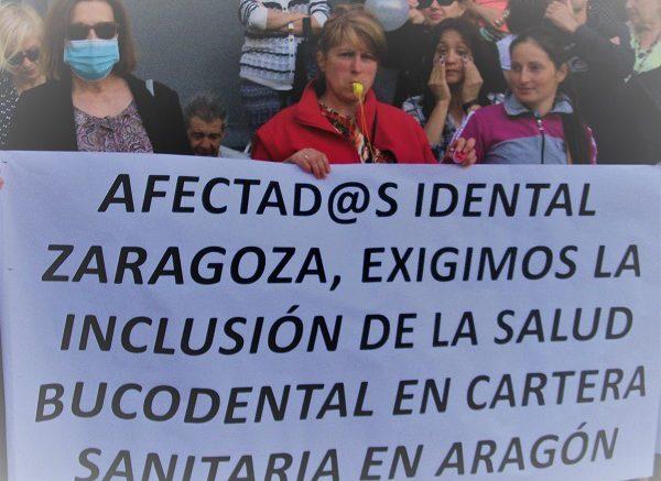 Las afectadas por la estafa de iDental, en una movilización.