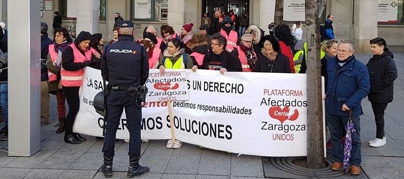 Los afectados por iDental se movilizan para exigir una solución y que el Gobierno de Aragón cumpla sus promesas antes de las elecciones autonómicas